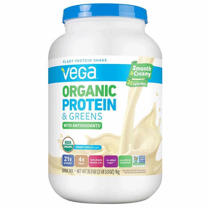 Bột đạm thực vật hữu cơ Vega organic protein vanilla 1kg