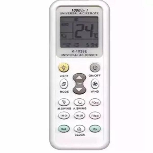 Remote máy lạnh đa năng K-1028ES tương thích tất cả các dòng máy hiện nay.