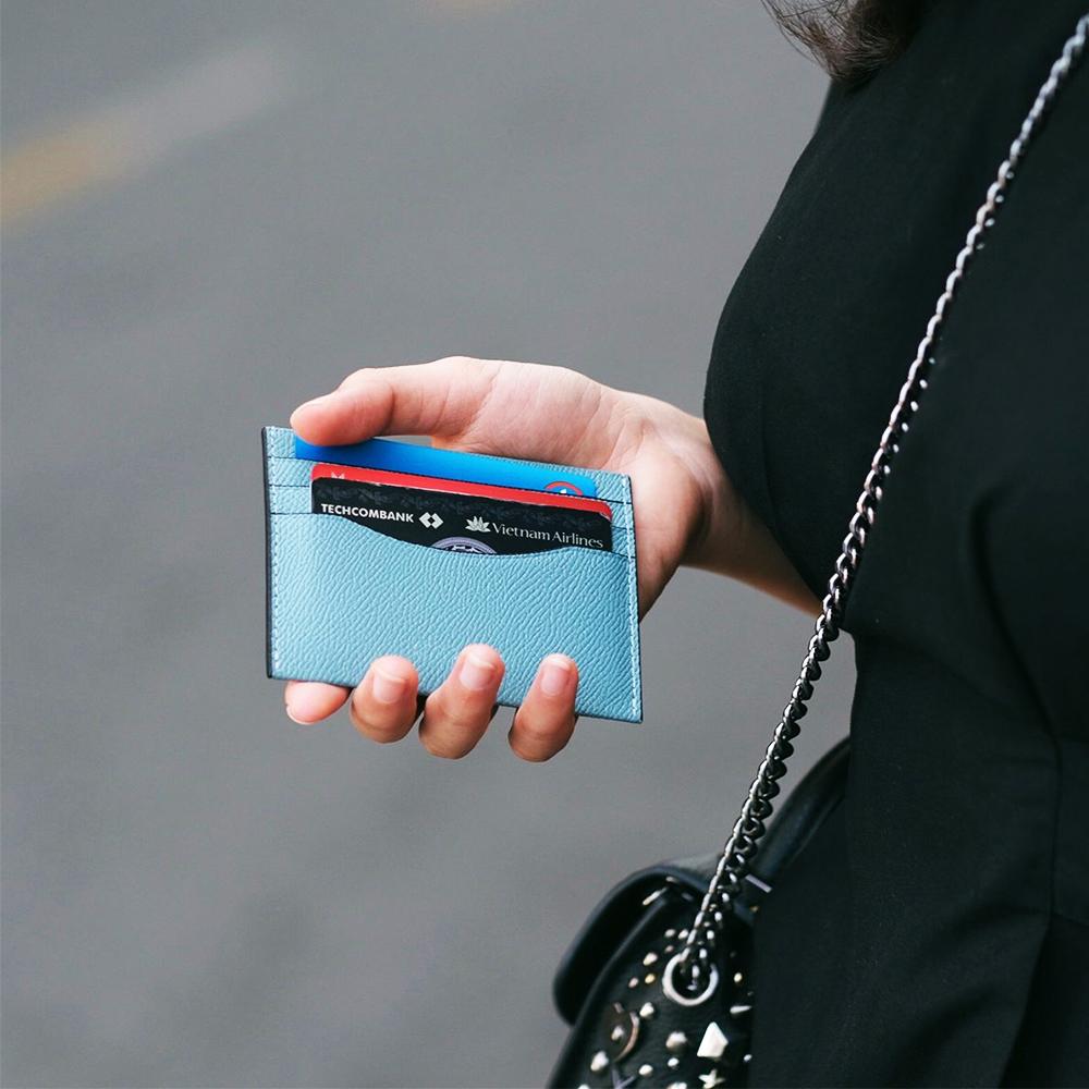 Ví Card Laka Da Thật 6 Ngăn Mini Unisex Phong Cách Tối Giản Thanh Lịch Với Giá Sốc