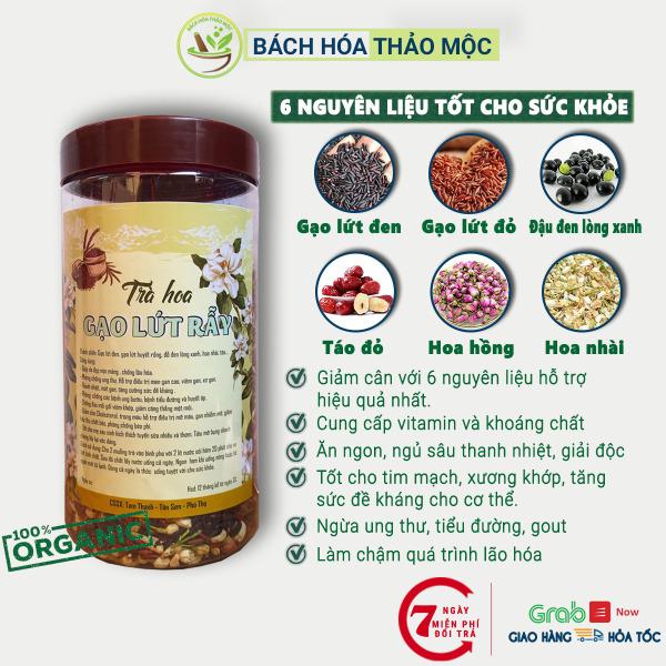 Trà Gạo Lứt Đen Đẹp Dáng Cho Mẹ Lợi Sữa Cho Con. 8 Nguyên Liệu Rất Tốt Cho Sức Khỏe. Hộp 600Gr
