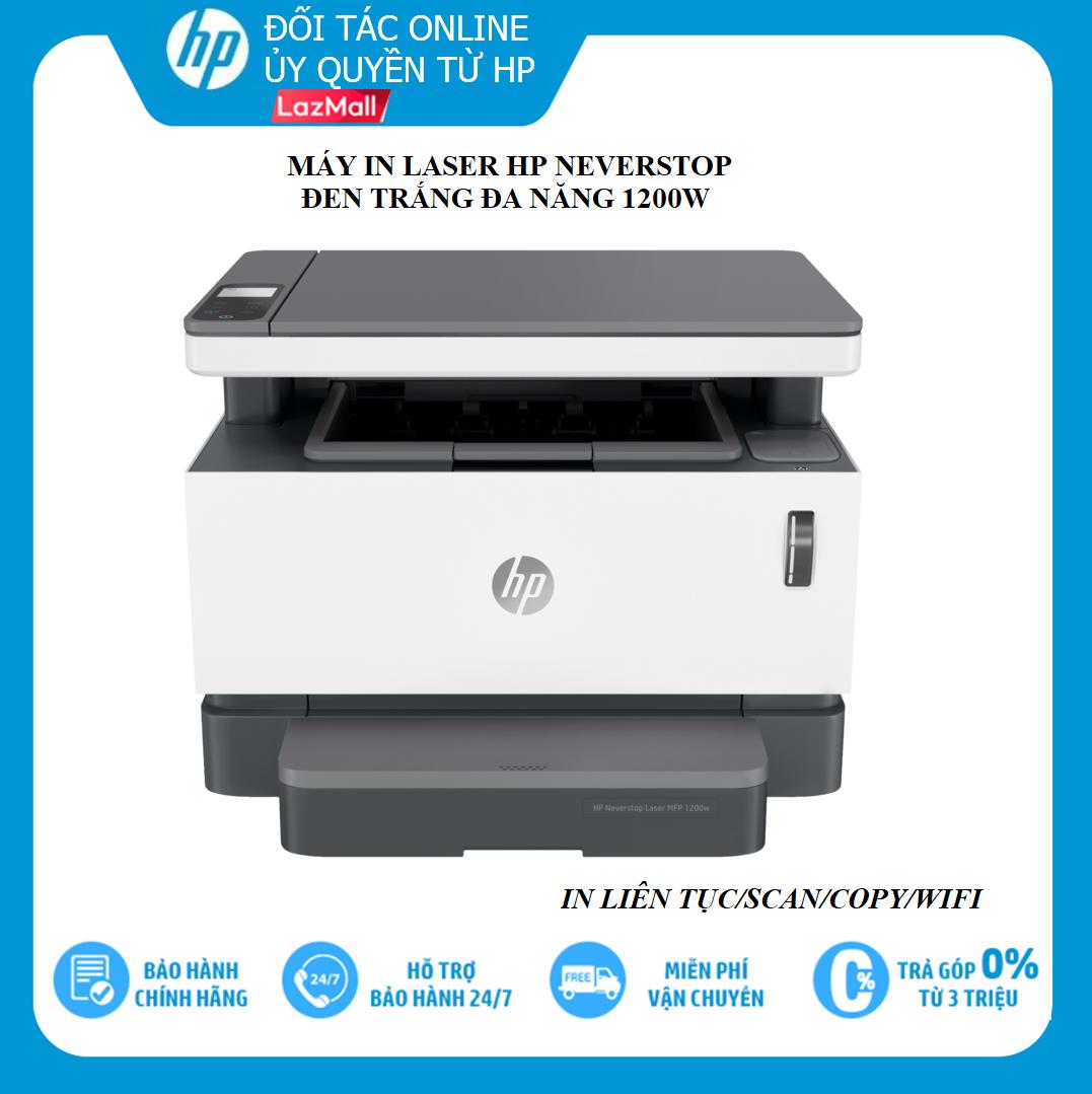 [VOUCHER 20% 27-29/3] Máy in đa chức năng HP Neverstop Laser MFP 1200w (4RY26A) - In/scan/copy/wifi - Hàng chính hãng