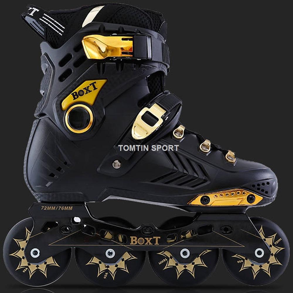Mua Giày trượt patin người lớn có size từ 38-44 BOXT màu đen vàng sang trọng phù hợp cả nam và nữ [TOMTIN SPORT]