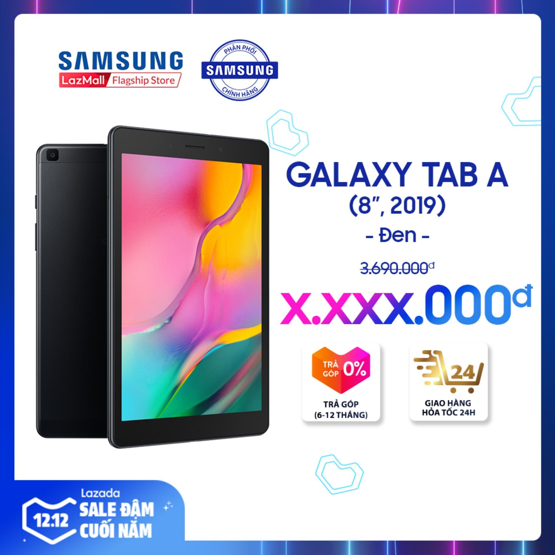Máy Tính Bảng Galaxy Tab A SM-T295 32GB (2GB RAM) 2019 Đen - Màn Hình 8 Inch, Tỷ Lệ 16:10 Full HD + Trọng Lượng Chỉ 347g Mỏng Nhẹ + Hỗ Trợ Thẻ Nhớ đến 512GB + Pin 5100 MAh - Hàng Phân Phối Chính Hãng. Đang Khuyến Mãi
