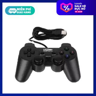 Tay cầm chơi game hổ trợ rung USB cho pc laptop Tay cầm chơi game có dây rời kiểu PS3 Dualshock3 cho PC có 12 phím chức năng và điều khiển thumbnail