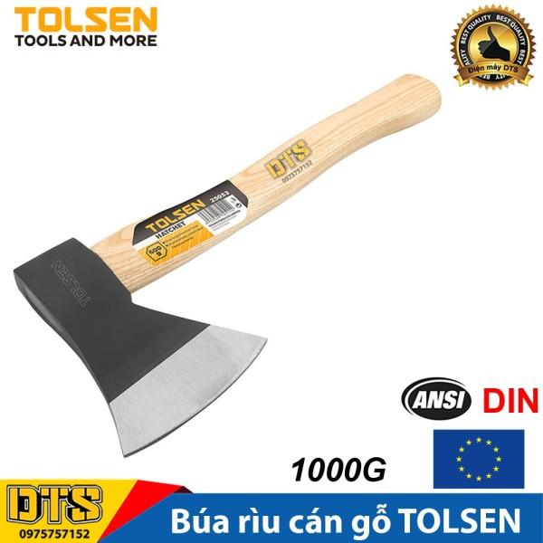 Búa Rìu đa năng cán gỗ TOLSEN cứu hộ, làm vườn, chặt cây, bổ củi 1000G (1Kg) - Tiêu chuẩn xuất khẩu Châu Âu