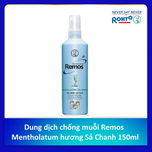 Dung dịch chống muỗi Remos Mentholatum hương Sả Chanh 150ml