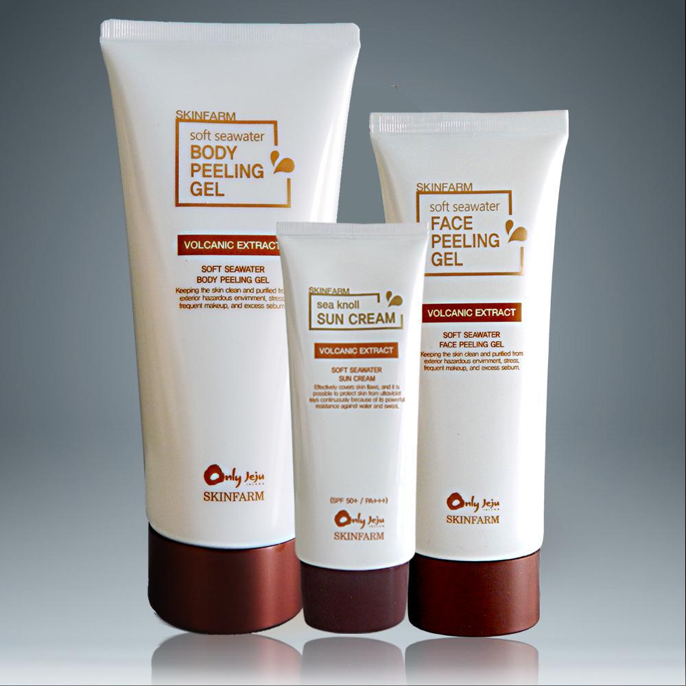 Bộ 3 sản phẩm kem chống nắng gel tẩy da chết body và mặt SKINFRAM cao cấp