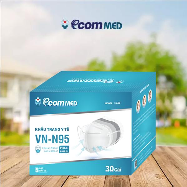 Khẩu Trang N95 EcomMed (Hộp 30 cái)