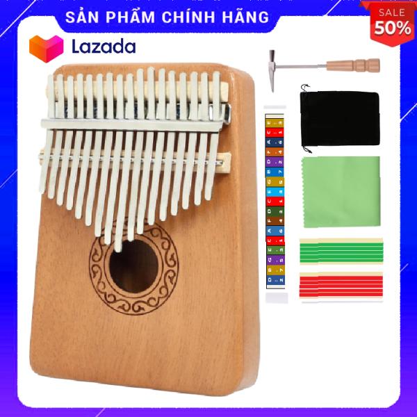 Đàn kalimba 17 phím tặng stick màu và búa chỉnh âm cho bạn mới học GECKO007