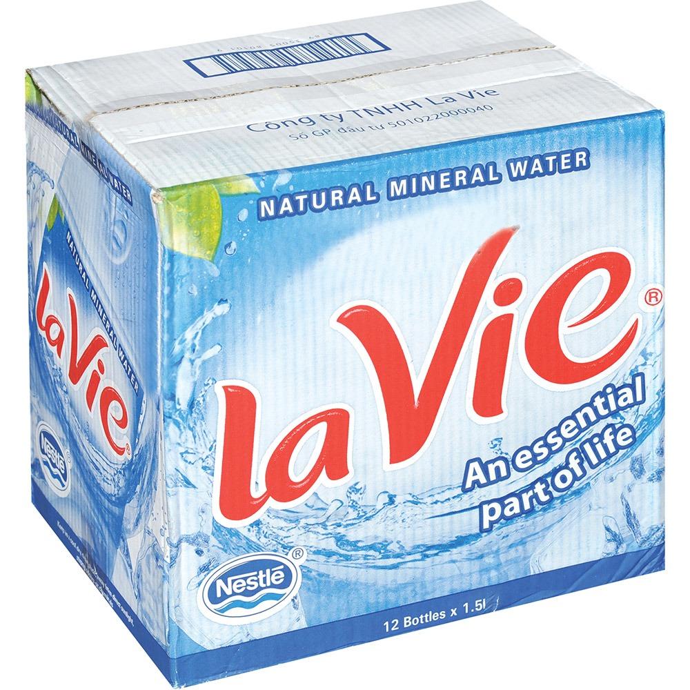 Nước khoáng thiên nhiên Lavie thùng 12 chai x 1.5L