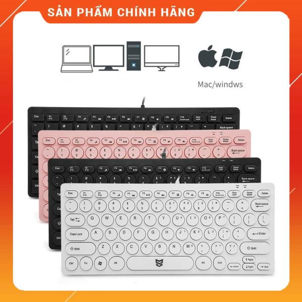 Bảng giá Bàn phím máy tính Mini cổng USB siêu tiện dụng NK-11, 3 màu Hồng, Đen, Trắng Phong Vũ