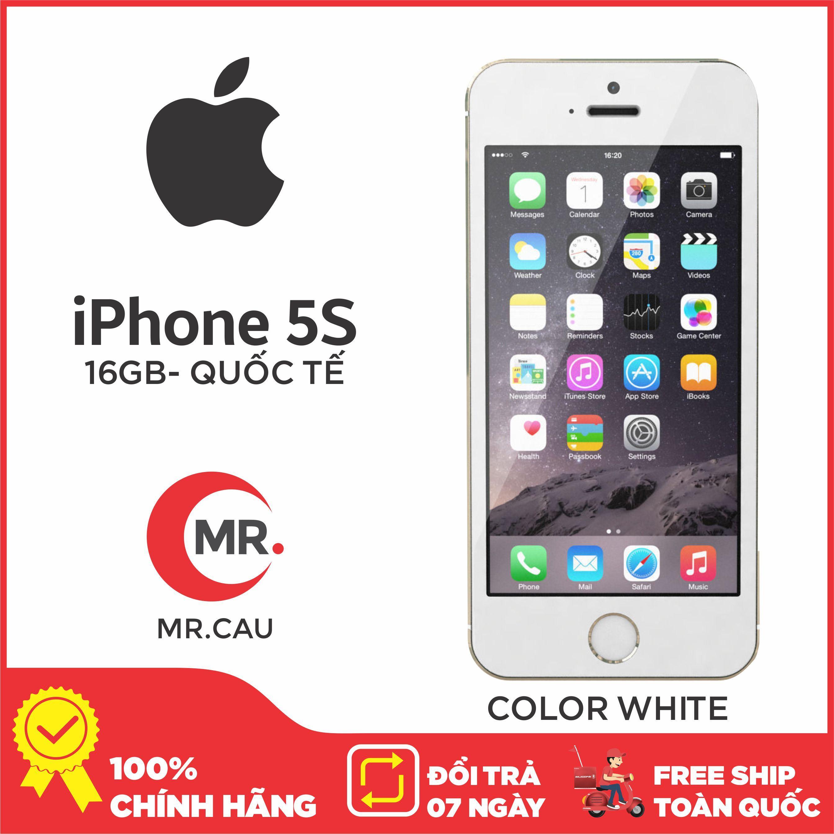 Điện thoại Apple iPhone 5s - 16GB - Bản quốc tế -CAM KẾT ZIN NGUYÊN BẢN Full phụ kiện - Bảo hành 6 tháng - Đổi trả miễn phí tại nhà - Yên tâm mua sắm với Mr Cầu ( Điện Thoại Giá Rẻ, Điện Thoại Smartphone, Điện Thoại Thông Minh)