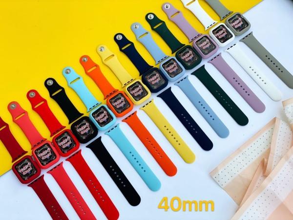 Bộ dây đeo apple + ốp nhiều màu đủ size 38/40mm- 42/44mm