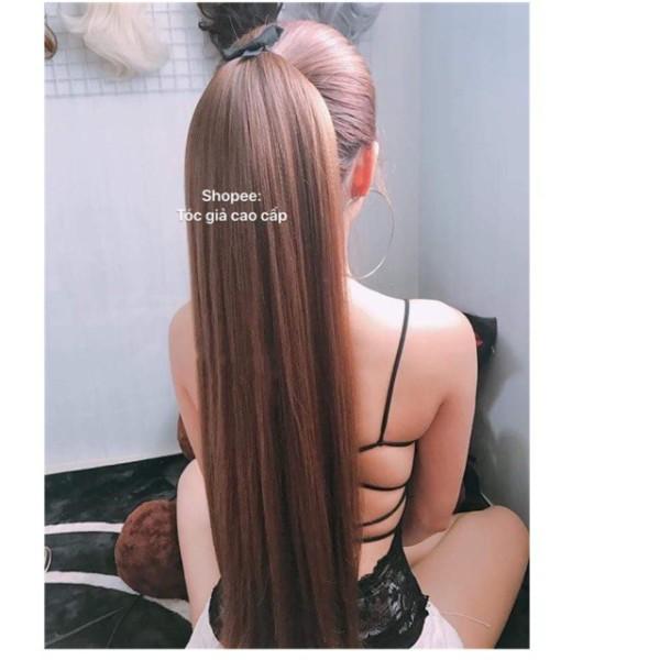 tóc giả dài thẳng 🎁 FREESHIP 🎁 Tóc giả cột thẳng bấm nhuyễn từng sợi tóc cao cấp