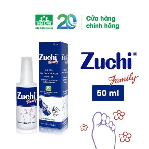 Xịt khử mùi Zuchi Family - Hương tự nhiên, khử mùi hôi nhanh chóng, ngăn ngừa hôi chân, nấm bàn chân (50ml) - VTP Made in Việt Nam cao cấp