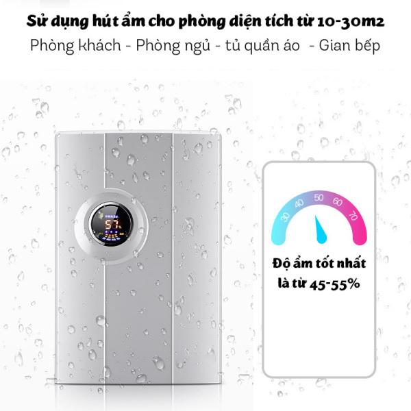 Máy hút ẩm Yangzi CS-10F công nghệ hút ẩm Hybrid màn hình LED sang trọng hiển thị độ ẩm, nhiệt độ dung tích 2.2L không còn ẩm mốc trong nhà bạn