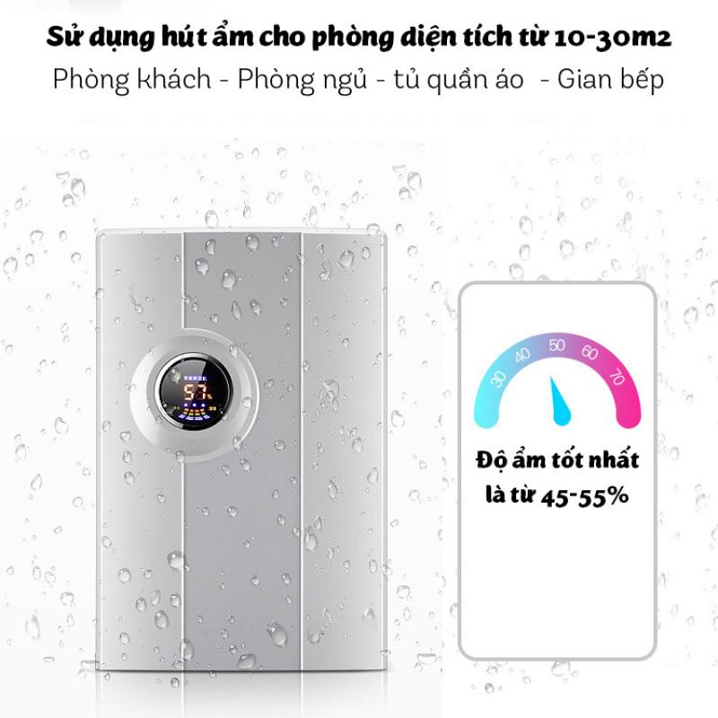 Máy hút ẩm Yangzi CS-10F công nghệ hút ẩm Hybrid màn hình LED sang trọng dung tích 2.2L- Bh 1 năm