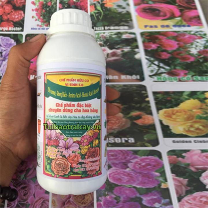 Phân bón hoa hồng chế phẩm hữu cơ vi sinh 5.0