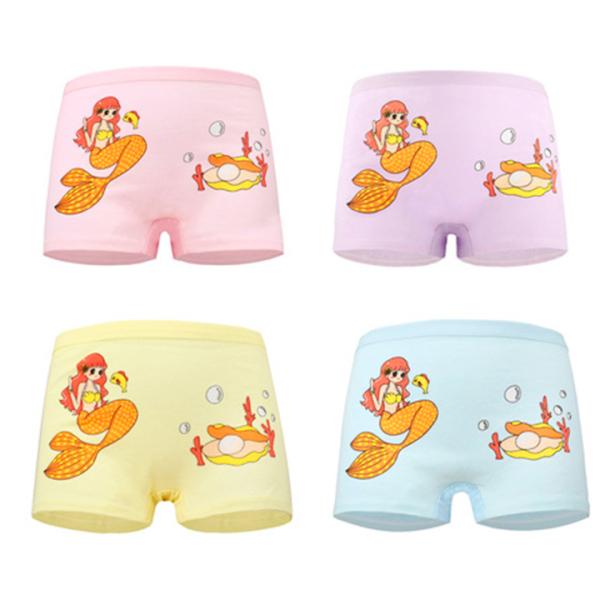 Giá bán Set 4 quần chip đùi cho bé gái 2-12 tuổi chất cotton mềm mại co giãn tốt họa tiết theo chủ đề đủ màu sắc đáng yêu BBShine – C015
