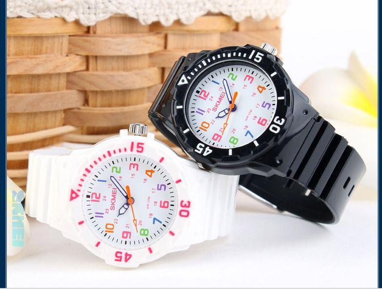 Nơi bán Đồng hồ trẻ em Skmei 1043 kiểu dáng xinh xinh đáng yêu(Cập nhật 2019)