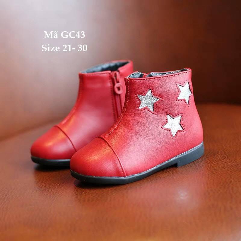 Giá bán Giày bốt bé gái 1 - 5 tuổi kiểu Hàn Quốc GC43 đỏ