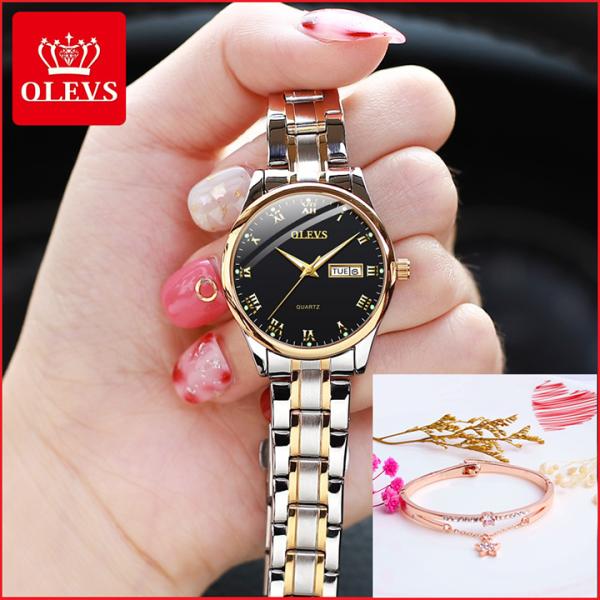 Đồng hồ nữ chính hãng OLEVS dây thép cao cấp, sang trọng và đẳng cấp bán chạy