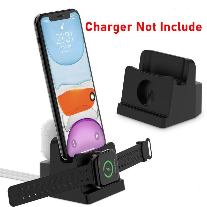 Tongdaytech 3 Trong 1 Để Điện Thoại Bàn Làm Việc Cho Iphone XR XS 8 11 Pro Max Sạc Ga Đứng Cho Apple dây Tai Nghe Airpods 6 5 4 3 2 1 Bán giỏi nhấthjhg
