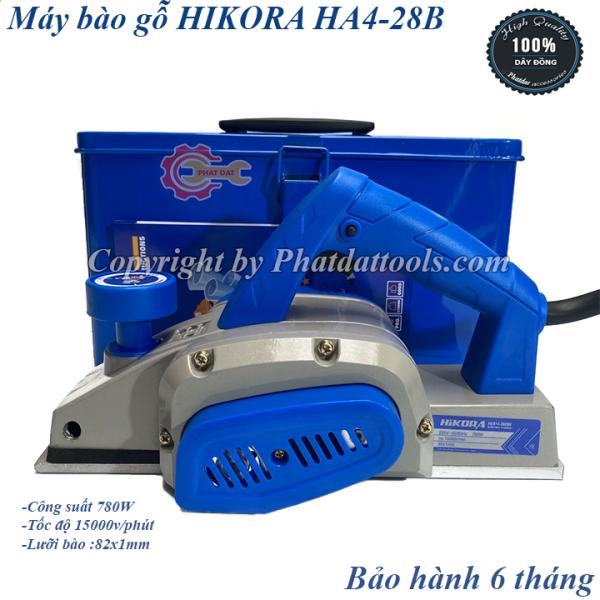Máy bào gỗ HIKORA HA4-28B-Khung vỏ máy bằng nhôm đúc-Hộp đựng sắt-Công suất 780W-Bảo hành 6 tháng