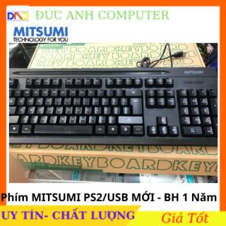 Bàn phím có dây Mitsumi cổng PS2 USB - full box bảo hành 12 tháng cam kết sản phẩm đúng mô tả chất lượng đảm bảo thumbnail