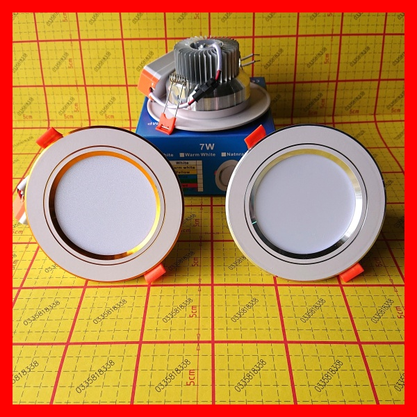 Đèn led âm trần 7W 9W đơn sắc, 3 màu, nguồn chấn lưu rời, downlight. Đèn led trang trí ///