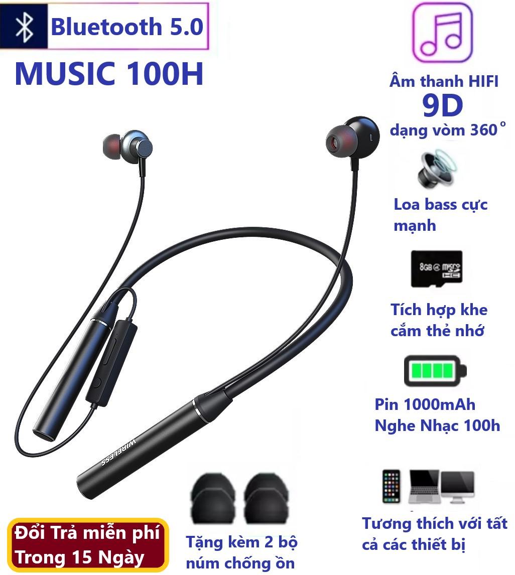Tai nghe bluetooth thể thao . pin khủng 600mah nghe nhạc 60h âm thanh 9d.  bluetooth 5.0 có mic đàm thoại. tai nghe bluetooth không dây - Sắp xếp theo  liên quan