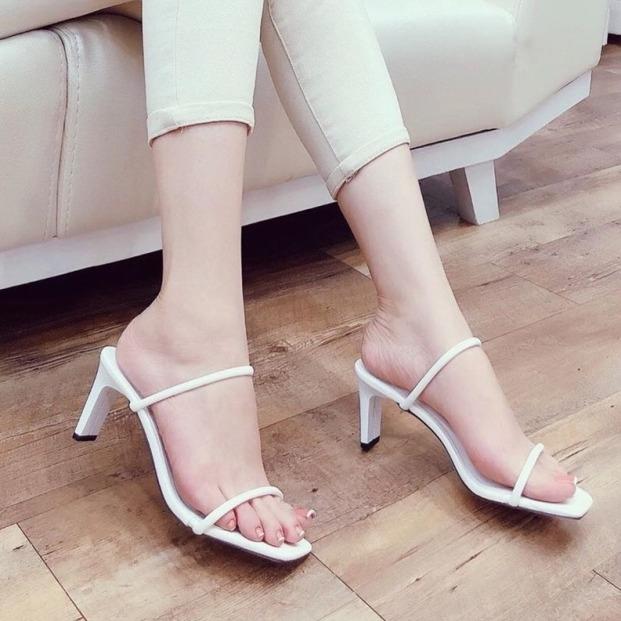 Giày Cao Gót Nữ 8p Quay Mảnh tròn LZ004 giá rẻ