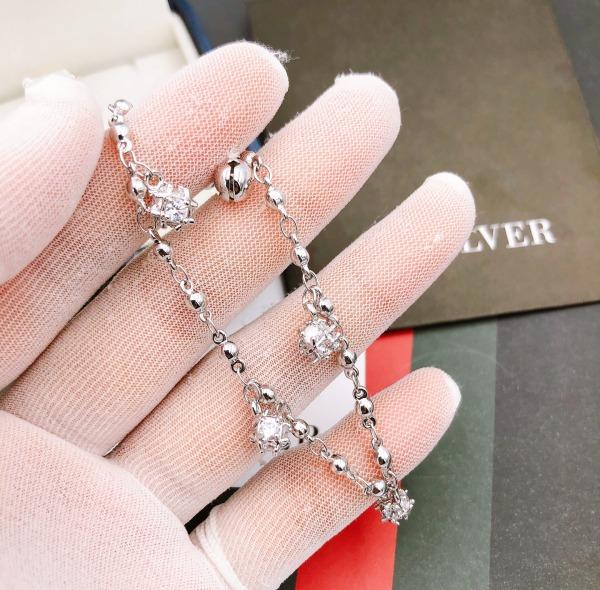 [Sale đợt cuối chỉ 1 ngày 9/12 chỉ 49K + tặng thêm mã 10K]Lắc chân nữ hoặc đeo tay được mạ vàng trắng thật 18K Free & Easy cao cấp giá rẻ FE.lacchan11