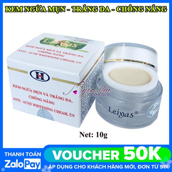 Kem LEIYAS - Kem ngừa mụn và trắng da chống nắng 10g cao cấp