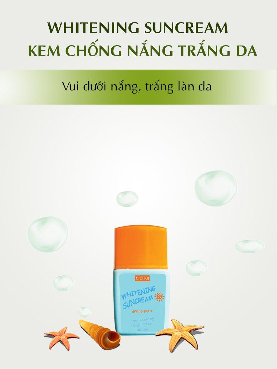 Kem chống nắng trắng da - Whitening Suncream (Mỹ phẩm thiên nhiên Cchoi)