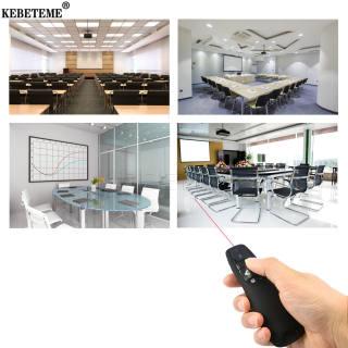 Kebeteme 2.4GHz Không Dây USB Trình Chiếu Powerpoint PPT Lật Bút Với Đầu Thu R400 Điều Khiển Từ Xa Với Cầm Tay Chuyển Trang PPT con Trỏ Bút Cho Văn Phòng