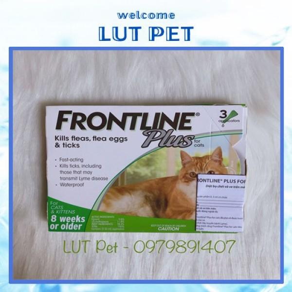 Nhỏ gáy cho mèo trị ve rận Frontline Plus diệt bọ chét nấm viêm da