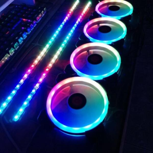 Dây Led RGB Đồng Bộ Fan Hub CoolMoon Có Nam Châm Gắn Dễ Dàng