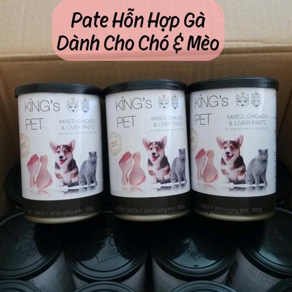 SAIGON PETS FOOD - Pate KINGS PET Lon 380G - Siêu Cấp Nước, Hỗn Hợp Gà Dành Cho Chó & Mèo