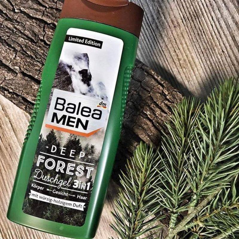 Sữa tắm gội nam 3in1 Balea Men Deep Forest với hương thơm quyến rũ - 300ml Đức
