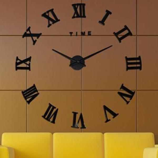 Nơi bán [Tặng PIN] Đồng hồ dán tường số la mã nổi 3D - 90cm - 120cm - Đồng hồ DIY - đồng hồ treo tường trang trí - DH382