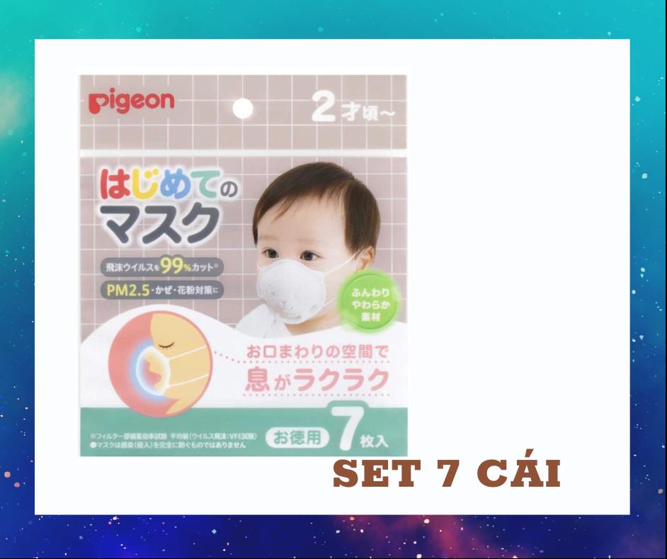 Khẩu Trang Pigeon set 7 kháng khuẩn dành cho trẻ em