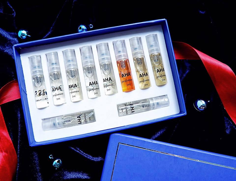 Set 10 nước hoa nam AHAPERFUMES (nước hoa mini) - dạng xịt - lưu hương 8h