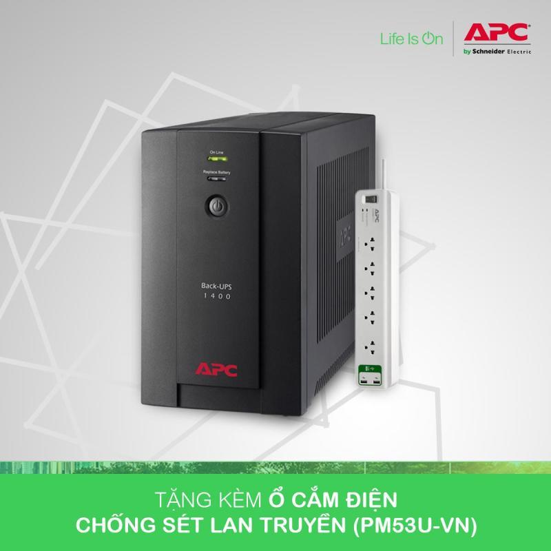 Bảng giá [Khuyến Mãi] - Bộ lưu điện:  Back-UPS 1400VA, 230V, AVR, Universal and IEC Sockets - BX1400U-MS Phong Vũ