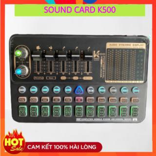 Sound Card Livestream K500 - Auto Tune 2021 Chuyên Thu Âm Livestream - Pin Sử Dụng Tối Đa 6 Tiếng ( BẢO HÀNH 12 THÁNG ) thumbnail