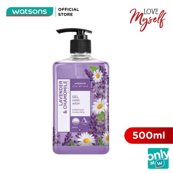 Gel Rửa Tay Watsons Love My Skin Lavender & Chamomile Scented Gel Hand Soap Hoa Cúc & Oải Hương 500ml