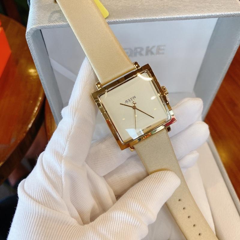 Đồng hồ nữ Julius Hàn Quốc JA-354 mặt vuông dây da