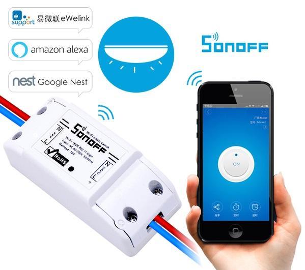 Công tắc thông minh điều khiển từ xa qua mạng wifi sonoff basic
