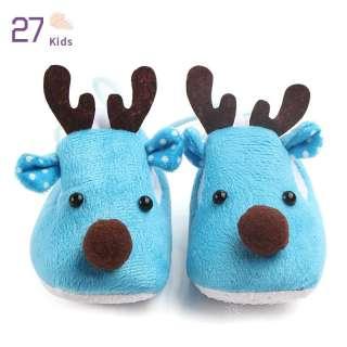 27 Giày Lông Cừu Đế Siêu Mềm Cho Em Bé Thiết Kế Hình Nai Sừng Tấm Dễ Thương Làm Quà Giáng Sinh Cho Mùa Thu Mùa Đông