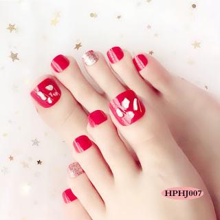 Bộ 24 Móng chân giả , nail giả C57 (kèm keo dán) thumbnail